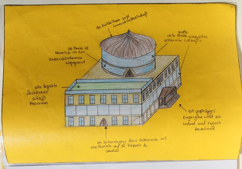 Schulentwurf 1 Zeichnung