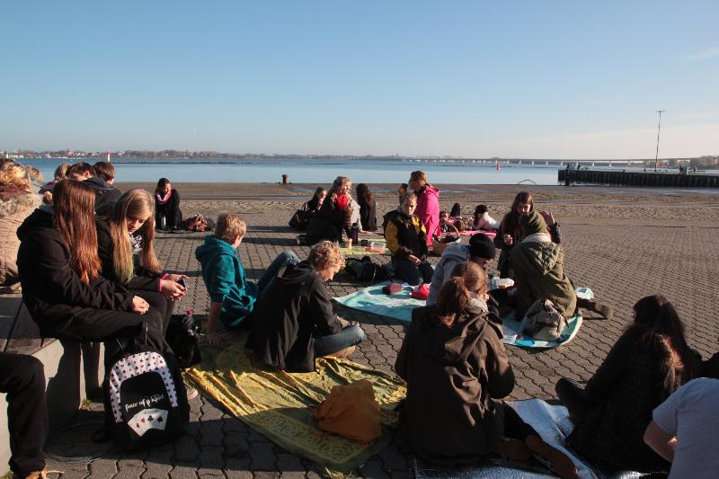 Picknick am Hafen